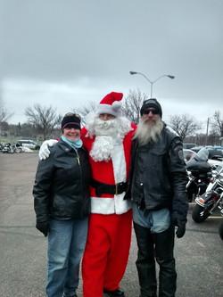 Santa Clause at the Toy Run