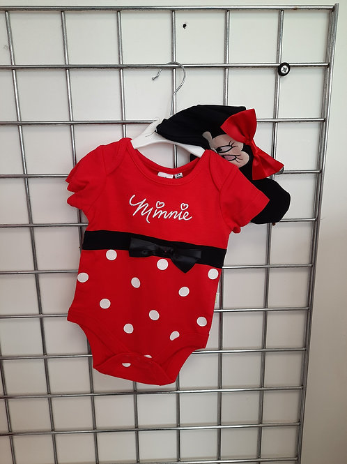 Disney  Minnie Mouse Bodysuit with hat