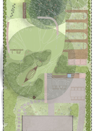 Hellende tuin