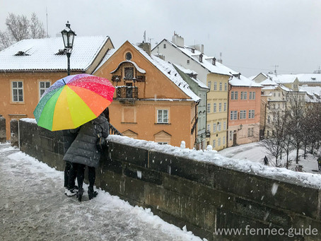 Winter city walks are great in Prague