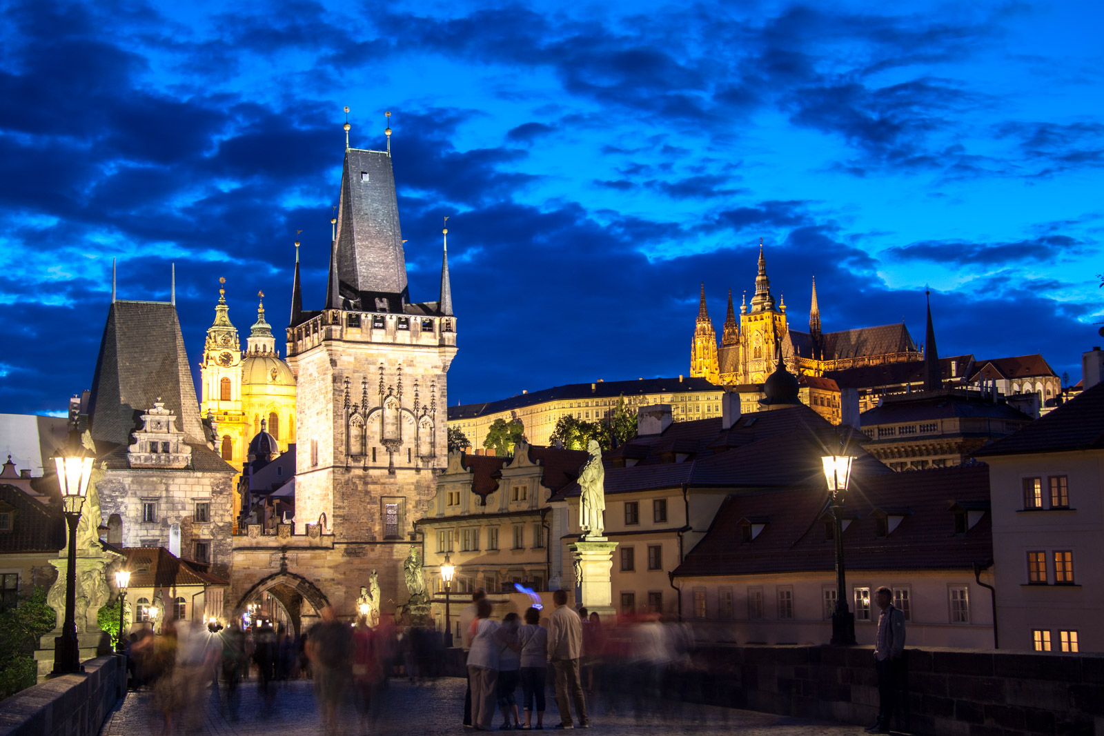 summer evening in prague