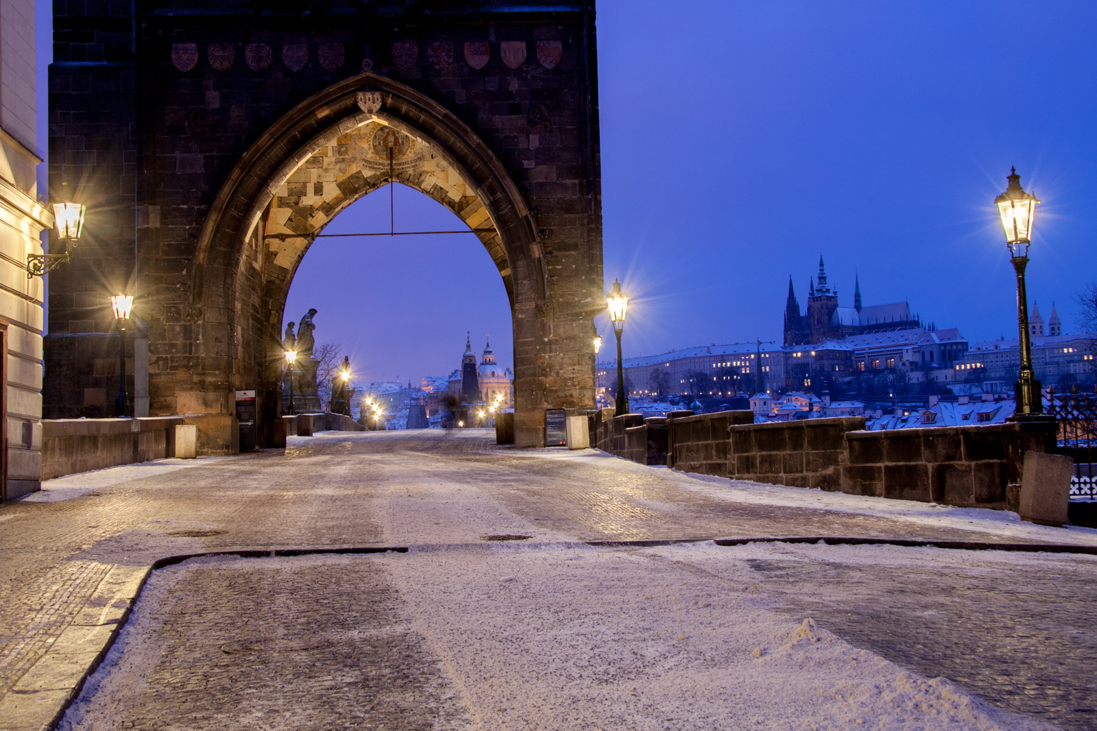 winter morning on charles bridge