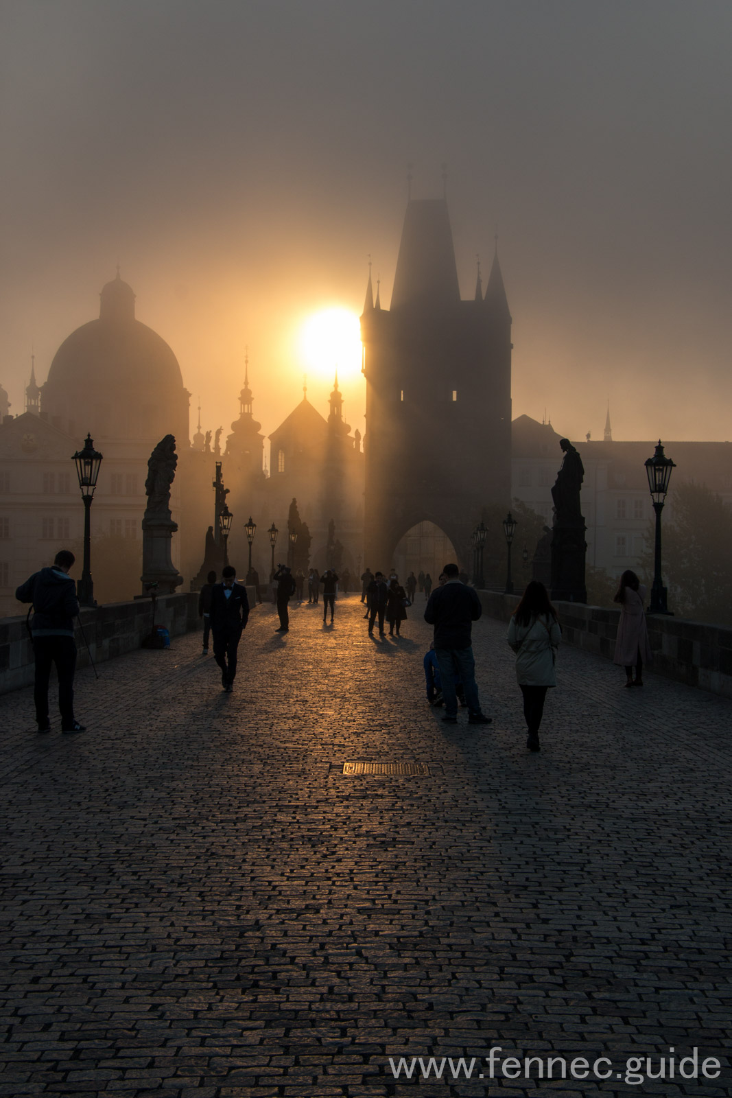 morning on the charles bridge