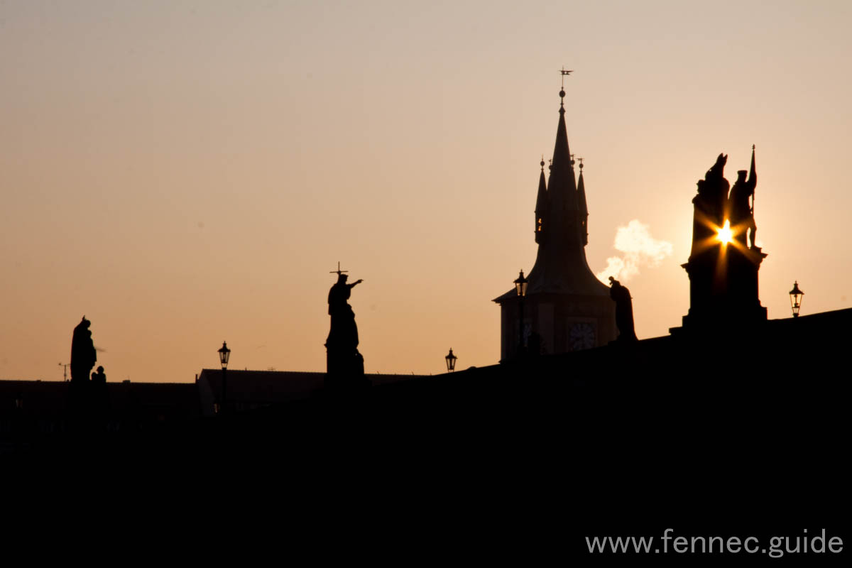 Sun over charles bridge