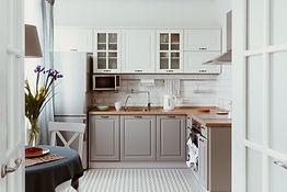 Cucina bianca grigia