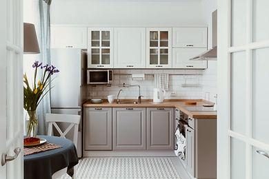 Kitchen with Clean Vinyl Floor