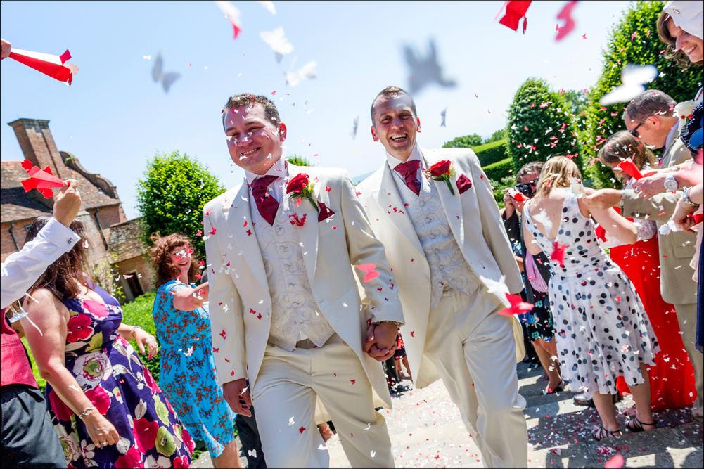 Civil partnership confetti action