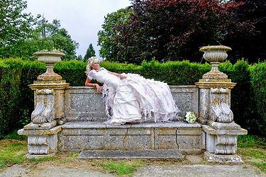 Wedding bride at Eastwell Manor