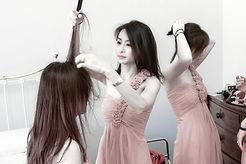 Chinese Bridesmaids prep wedding at oxford uni