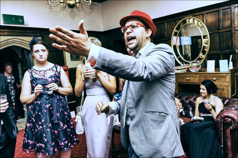 Magic man at wedding
