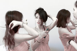 Chinese Bridesmaids prep wedding at oxford university