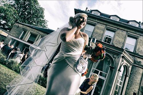 Brides celebration after ceremony