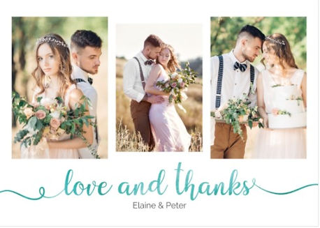 Wedding thanks cards