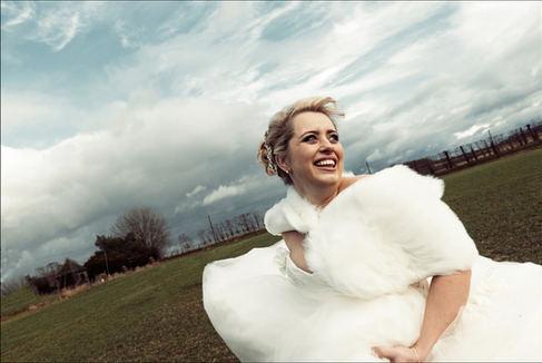 Fun shot of bride