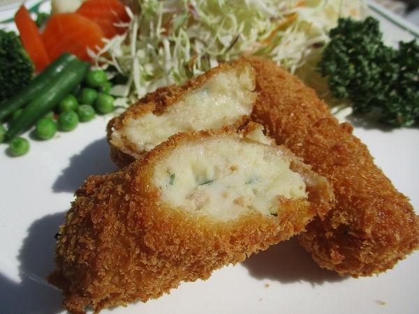 ガチコラボ / 和食《SHIMOMURA》×村井肉店 クリームコロッケ バジルの香り