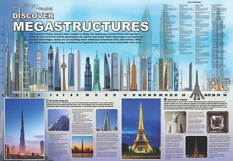 Discover Mega Structures Educational Wall Chart