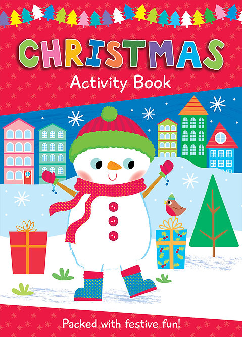 Snowman Christmas Colouring Activity Book