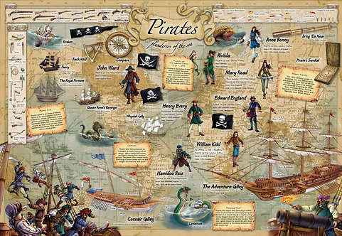 Discover Pirates Educational Wall Chart
