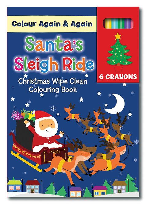 Santa's Sleigh Ride - Reusable A5 Colouring Books