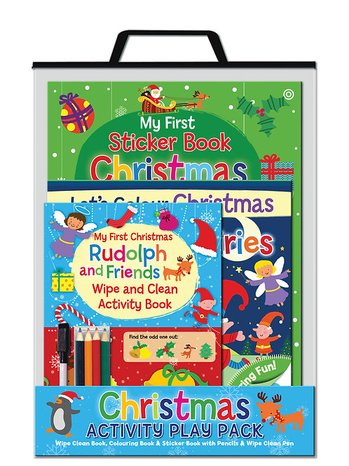 Rudolph and Friends - Handle Activity Bags