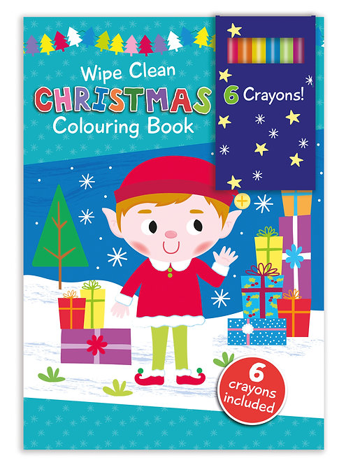 Elf - Wipe Clean Christmas Colouring Book