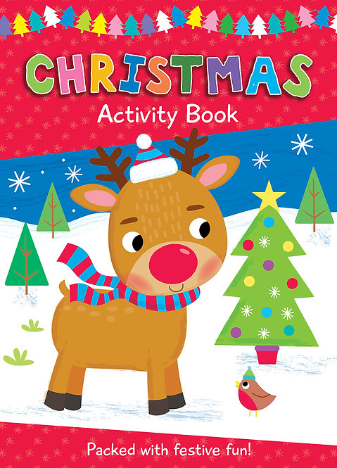 Reindeer Christmas Colouring Activity Book