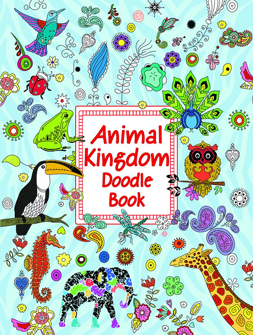 Doodle Colouring Book - Animal Kingdom