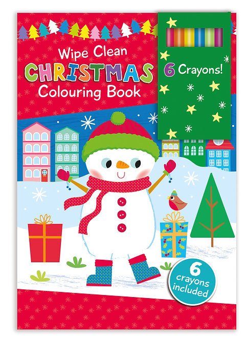 Snowman - Wipe Clean Christmas Colouring Book