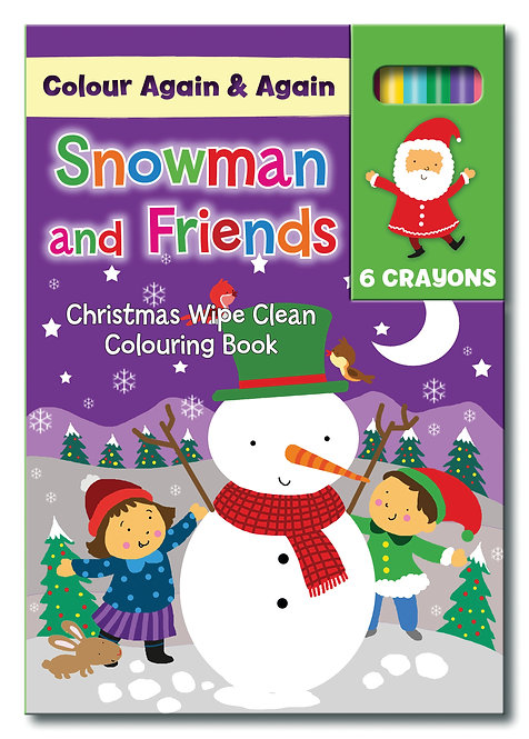 Snowman and Friends - Reusable A5 Colouring Books