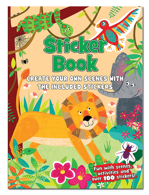 Jungle - Create the Scene Sticker Book