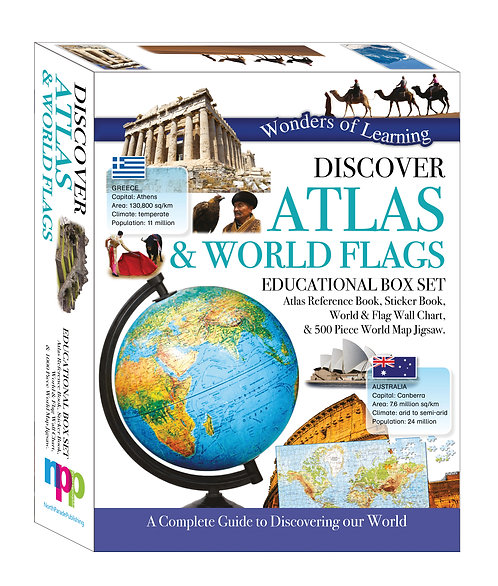 Wonders of Learning Box Set - Discover Atlas & World Flags