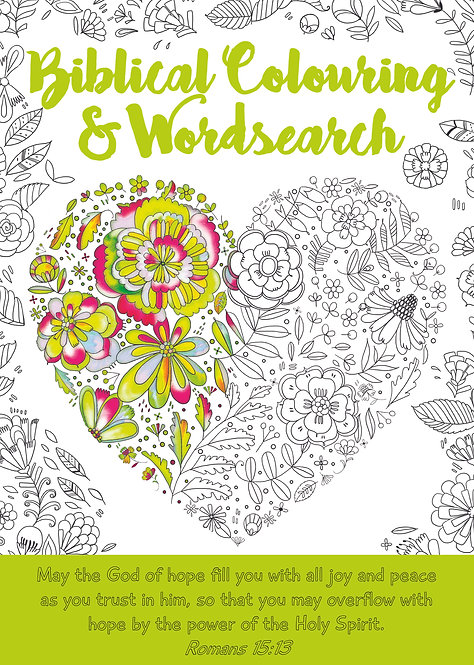 Biblical Colouring and Wordsearch - Heart