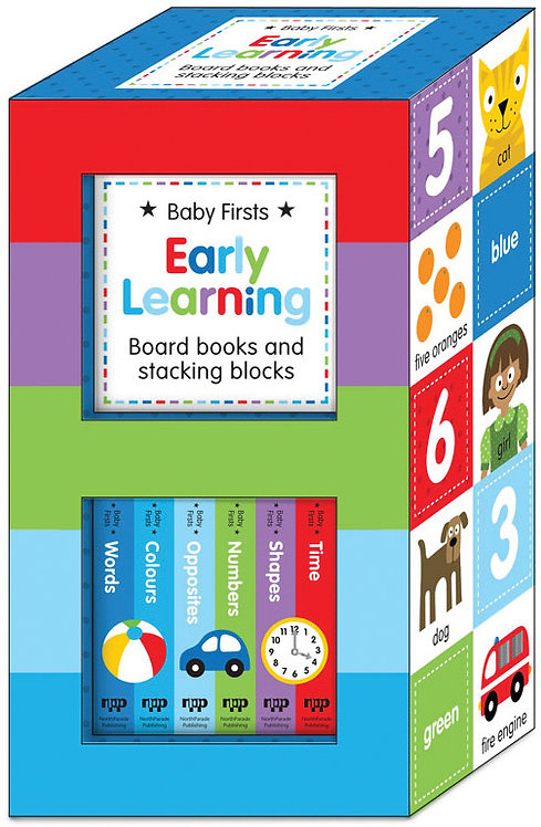 Baby Firsts Early Learning Board Books & Stacking Blocks