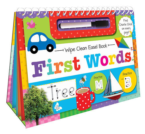 First Words Wipe Clean Easel Book