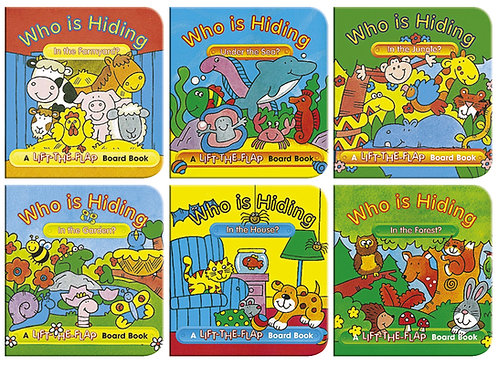 Who Is Hiding? Mini Lift-the-Flap Board Books