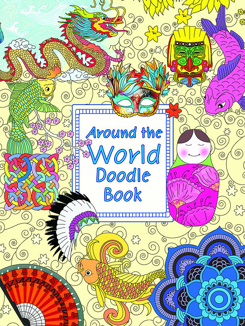 Doodle Colouring Book - Around The World