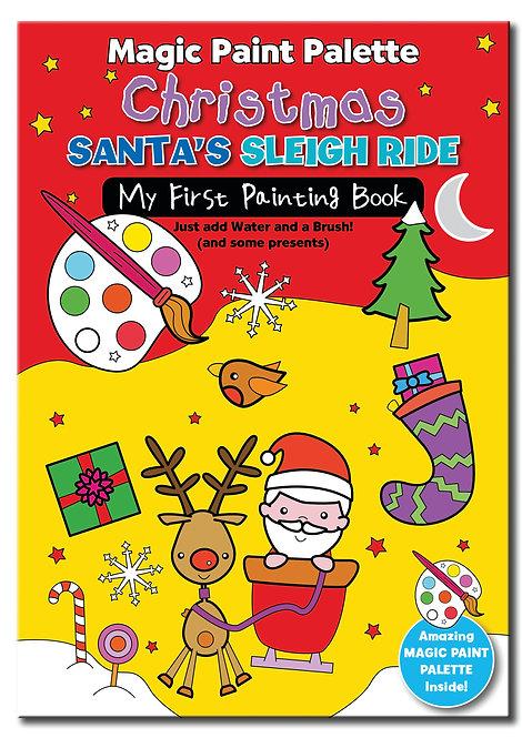 Santa's Sleigh Ride - Magic Paint Palette Books