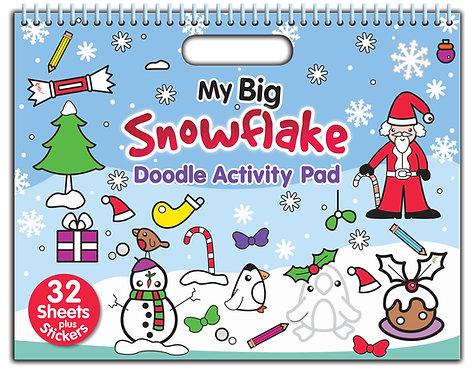My Big Snowflake Doodle Activity Pad