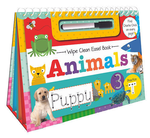 Animals Wipe Clean Easel Book