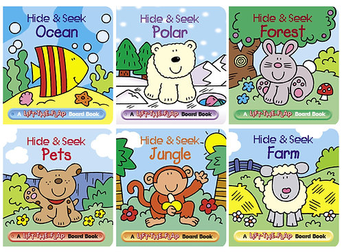 Hide and Seek Mini Lift-the-Flap Board Books