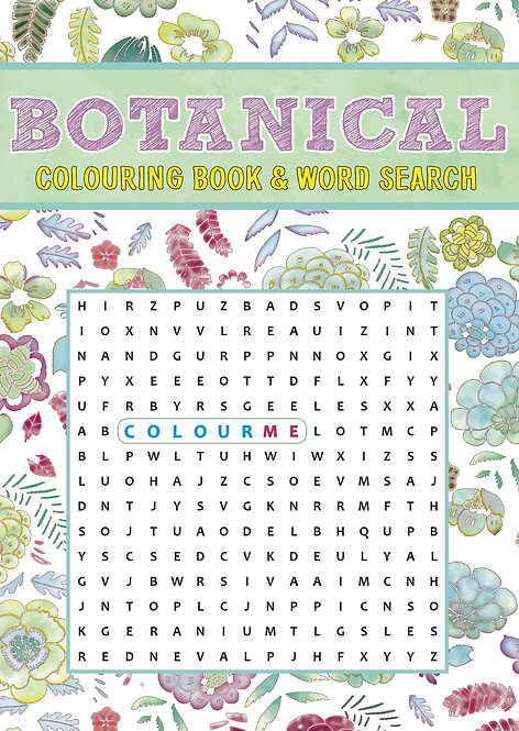 Grown Up Colouring & Word Search - Botanical