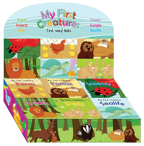 My First Creatures First Words Mini Board Books