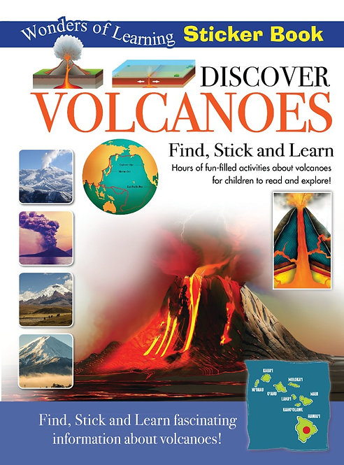 Sticker Book - Discover Volcanoes