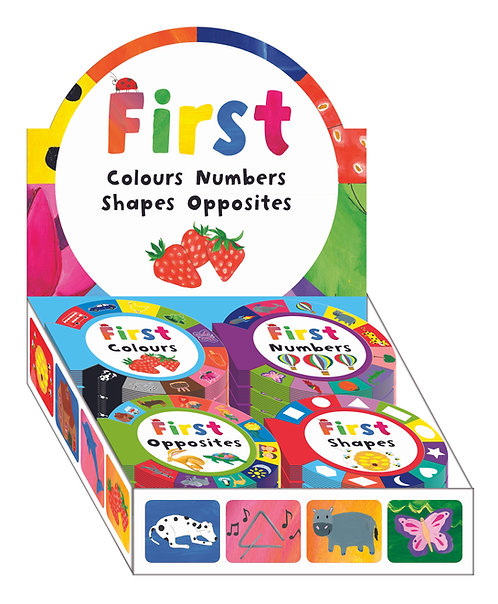 Round Tabbed First Word Small Board Books