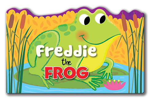 Freddie the Frog - Shaped Animal Book