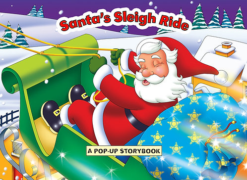 Santa's Sleigh Ride - Pop Up Book
