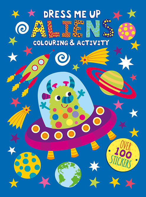 Dress Me Up Colouring and Activity Book - Aliens