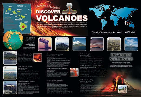 Discover Volcanoes Educational Wall Chart