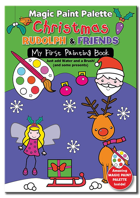 Rudolph and Friends - Magic Paint Palette Books