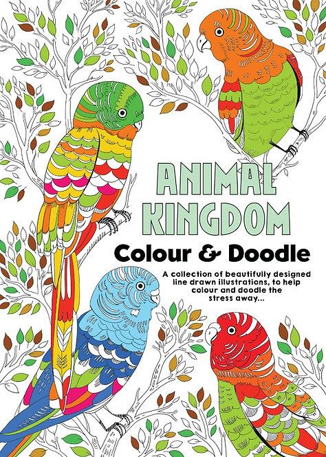 Animal Kingdom Adult Colouring Book